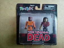 THE WALKING DEAD MINI MATES SERIES 3 DEXTER AND DREADLOCK ZOMBIE