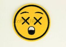 2.48 in paranoid Emoticon Iron on Patches Embroidered Badge Applique patch