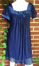 Charming B. Darlin Navy Blue Mini Dress Short Sleeve Summer Womens Size Small