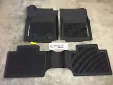 2016 TACOMA ACCESS CAB MANUAL TRANS 4X4 ALL WEATHER RUBBER FLOOR LINER MATS