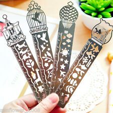 1PC Hot Paper Clips Ruler Shaped Metal Bookmarks Color Random Office Stationery