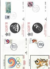 calgary + seoul 1988 volume con  19 + 36 buste primo giorno serie 0237/1000