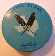 Manor Texas Fruit Cake Collectible Tin, Texas History Blue State Flower