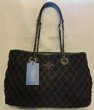 SimplyVera by Vera Wang Dark Green Large Quilted Tote Bag Purse Cargo Bay