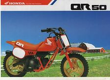 1991 HONDA QR50FM 2 page Motorcycle Brochure NCS