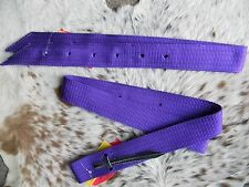 PURPLE Nylon Western Saddle Cinch Strap & Off Billet Set New Horse Tack