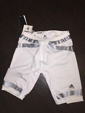 Adidas TechFit ClimaLite Power Web Compression Shorts White Mens 2XL New