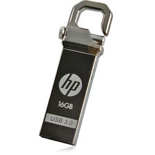 HP 16GB x750w USB3.0 Flash Pen Drive Memory Stick Key Thumb Disk Hook Lock Metal