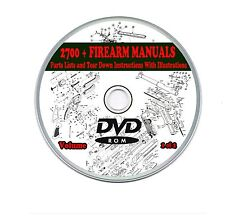 Firearm Weapon Manuals 2700 + Rifle,Carbine,Shotgun,Gun,Pistol, 2 DVDs Volume 1