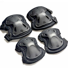 Set Knee Elbow Protective Pad Sports Protector Tactical Airsoft Combat Skate NEW