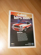 1976 77 78 Ford Mustang Cobra II Shelby Advertisement Magazine Ad FREE SHIPPING