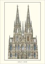 Kölner Dom Poster Kunstdruck Bild 100x70cm