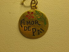 A NEW PORTUGUESE 19.25KT GOLD AMOR DE PAI TALKING CHARM FROM PORTUGAL #03-0034