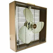 Hunter Box Floor Fan 3-Speed Metal Blades Old Vintage FZ20 Large Brown Square