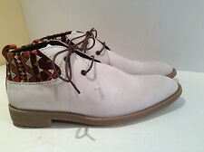 Men Shoes New Swear London Light Tan W/Lots Of Trim Size 40  Suede