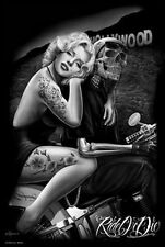 MARILYN MONROE - HOLLYWOOD HOMEGIRL - ART POSTER - 24x36 BIKE TATTOO 32322