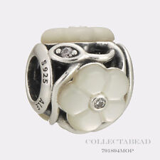Authentic Pandora Silver Luminous Florals Mother Of Pearl CZ Bead 791894MOP