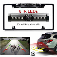 Car Rear View Backup Camera 8 IR Night Vision US License Plate Frame CMOS MAX