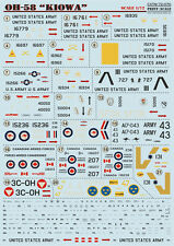 "DECAL FOR OH-58 ""KIOWA"" 1/72 PRINT SCALE 72-070"