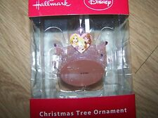 Hallmark Disney Princess Pink Tiara Christmas Holiday Ornament Rapunzel Belle