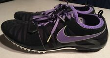 Nike Zoom Celar 4 Spikes Cleats Track Shoes US 13 Purple/Black/Silver 508990-050