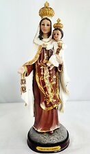 8 Inch Virgen Del Carmen Our Lady of Mount Carmel Statue Virgin Decor Religious