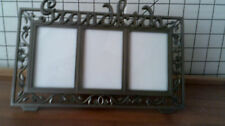 GRAND KIDS PEWTER PICTURE FRAME 8.75X5 IN SLIGHTLY USE