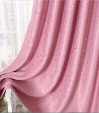 Kids Room Solution Blockout Eyelet Curtains Pink Girl Room 2 x 240 x 230cm(Drop)