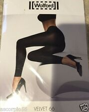 Wolford Velvet 66 Opaque Leggings blue allure Small 17017 66 Den