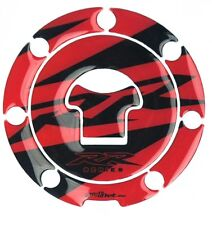 FUEL TANK CAP DECKEL 3D COVER STICKER AUFKLEBER PROTECTOR CARBON LOOK RED HONDA
