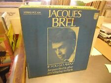Jacques Brel If You Go Away vinyl LP Philips 1967 Stereo EX w/Lyric Booklet