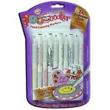 Edible Ink Marker pens Foodoodler Food colouring writer 10 Fine pack BEST SELLER