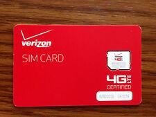 Verizon Wireless 4G LTE Micro SIM card for Samsung Galaxy S3, S4, Mini, Active