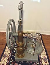 Vtg Vacuum Pump Machine Hand Operated with Glass Globe Central Scientific Comp