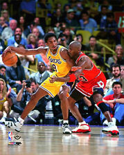 Rare MICHAEL JORDAN vs KOBE BRYANT Bulls vs. Lakers 1998 NBA Action Poster Print