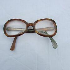 Vintage 1960's Eyeglasses Oval Round Eye Glass Frame tortoise shell