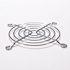 For PC Computer Silver Metal 80mm Chrome Fan Grill Finger Guard Protector New