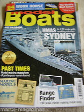 MODEL BOATS NOVEMBER 2015 HMAS SYDNEY WORK HORSE FEATURE PLAN COLWYN BAY CLUB