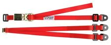 TRS Spare Wheel Strap RED - 3-Point Fixed Adjustable Ratchet Tie-Down 25mm/1""