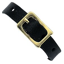 25 Black Leather Luggage Tag Loop Buckle Strap Lenticular Tags - #LTL03-B-25#