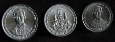 1996 King Bhumibol Adulyadejs 50 Year Reign 3 Coin Set Rama IX Golden Jubilee