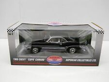 Highway 61 1:18 Diecast 1969 Chevy Camaro COPO 427 Black LE Supercar Collectible