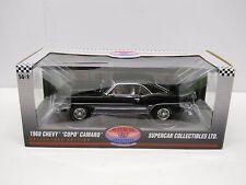 Highway 61 1:18 Diecast 1969 Chevy Camaro COPO 427 Black LE Supercar Collectible