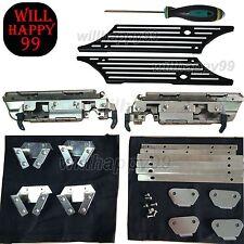 Saddlebags Hard Bag Latch Hardware Kit Black Billet Latch Cover for Harley 93-13