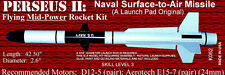 PERSEUS II MISSILE - MODEL ROCKET KIT *THE LAUNCH PAD #K062 - SKILL LEVEL 3