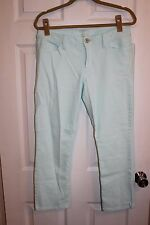 BANANA REPUBLIC DENIM CAPRI JEANS  SZ 28 SHORT LIGHT AQUA HUE