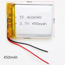 450mAh Lipo Polymer Rechargeable Battery 3.7V For MP3 DVD GPS bluetooth 403040