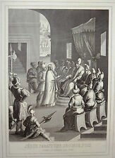 Gravure Etching Bible Vie de N. S. JÉSUS-CHRIST Jérôme Natalis par ROUARGUE 1853