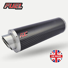 Hayabusa 96-07 F1R Road Carbon Round Midi UK Street Legal Exhausts + Black Bkts