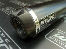 Kawasaki ZX6R ZX636 B1H 2002 2003 2004 Black GP Carbon Outlet Race Exhaust Can